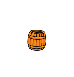 honey barrel icon vector image