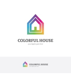 House logo in a rainbow colors vector image