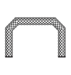 Inflatable finish line isolated on vector