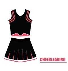 Isolated cheerleading uniform vector