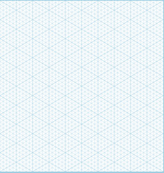 isometric grid graph paper seamless pattern vector image