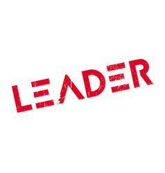 leader rubber stamp vector image