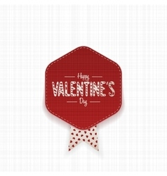 Little realistic Valentines Day Banner vector