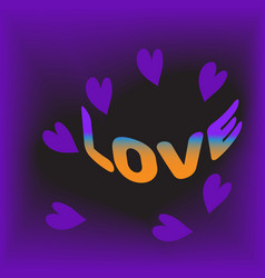 love and valentine dayviolet vector image