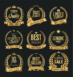 Luxury white labels collection 5 vector