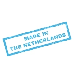 Made In The Netherlands Rubber Stamp vector