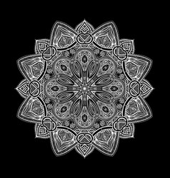mandala black new 2 vector image