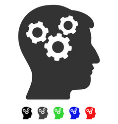 Mind gears flat icon vector