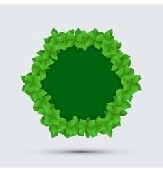 Modern frame of leaves vector