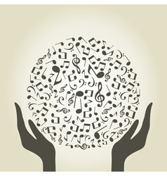 Music hand4 vector image