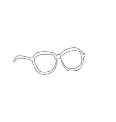 one continuous line drawing modern sunglasses vector image