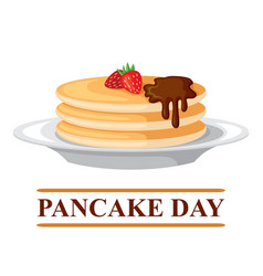 Pancake day card vector