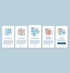 Pediatrics onboarding mobile app page screen vector