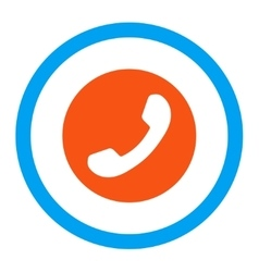 Phone Number Rounded Icon vector