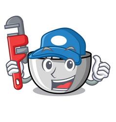 Plumber juicer mascot cartoon style vector