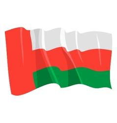 Political waving flag of oman vector