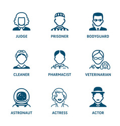 Profession icons - set iii vector