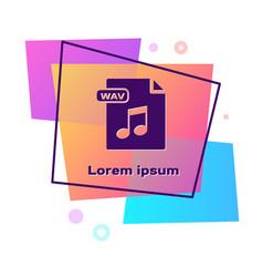 Purple wav file document download wav button icon vector