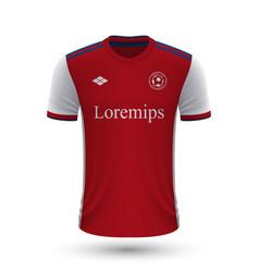 Realistic soccer shirt arsenal 2022 jersey vector