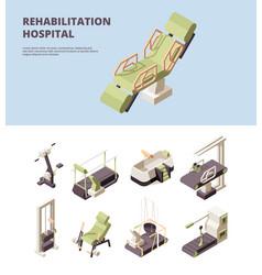 rehabilitation hospital healthcare center doctor vector image