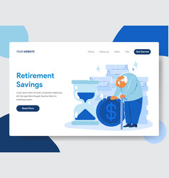 Retirement savings concept vector