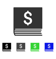 Sales book flat icon vector