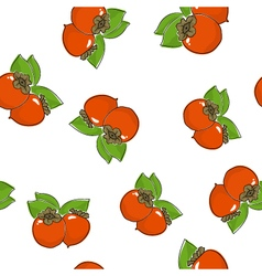 Seamless pattern persimmon vector