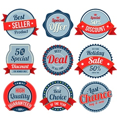 Set of retro vintage banner badges vector