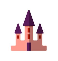 simple flat pink castle for vector image
