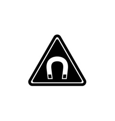 Strong magnetic field warning flat icon vector