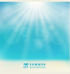 summer season seascape with sky sunlight bokeh on vector image