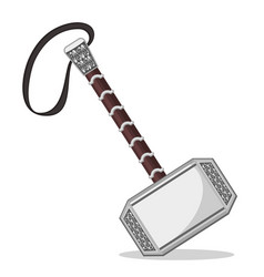 Superhero thor s hammer on a white background vector