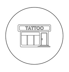 Tattoo salon building parlor icon outline single vector