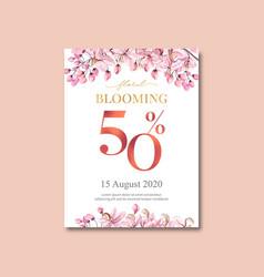 thai flowers poster design vector image
