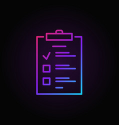 to do list colored outline icon checklist vector image
