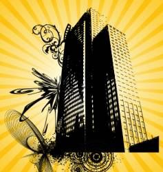 Urban building graphic vector