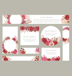 watercolor floral background with text space vector image