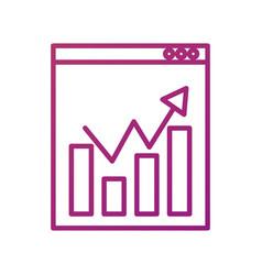 website network finance chart bar graph statistics vector image