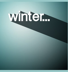 Winter background shadow design vector