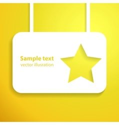 Yellow star applique background for your starlit vector