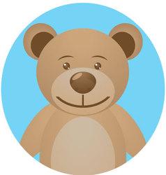 Bear teddy icon app mobile vector image vector image
