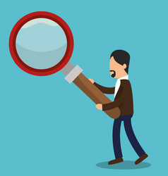 business people with magnifying glass training vector image
