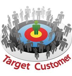 Customer Target Marketing vector image vector image