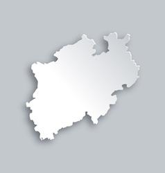 Map of North Rhine-Westphalia vector image vector image