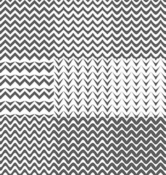 Set of Zig Zag Patterns Background vector image vector image