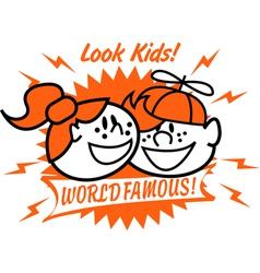 World famous kids vector
