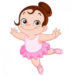 young ballet dancer vector image