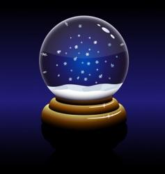 Christmas glass globe vector image vector image