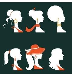 Elegant women silhouettes vector image vector image