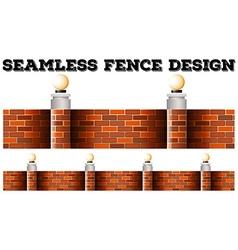 Seamless brick wall design vector